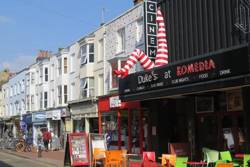 Comedy-centric Komedia is one of several great performance halls in Brighton.