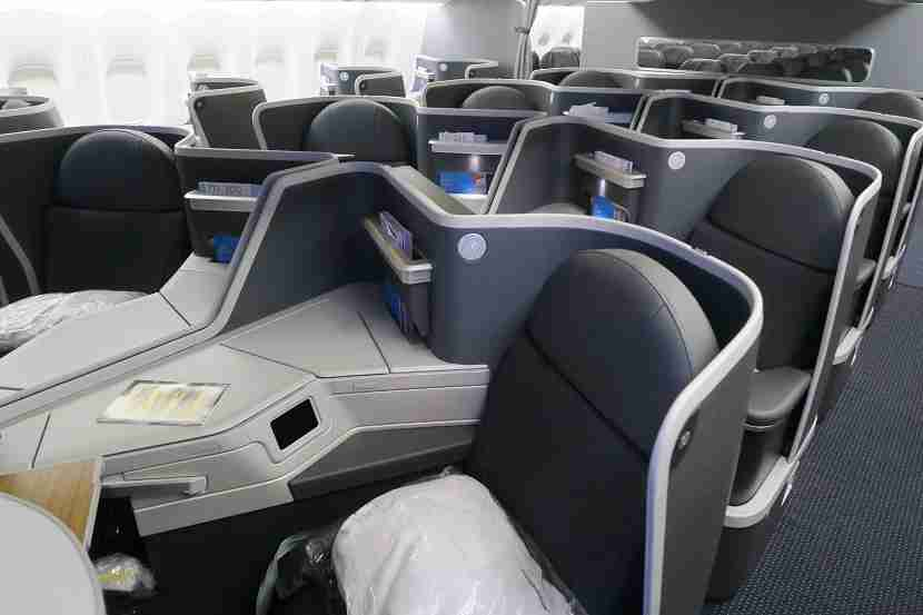 Business class middle seats on the 777-200 new retrofit.