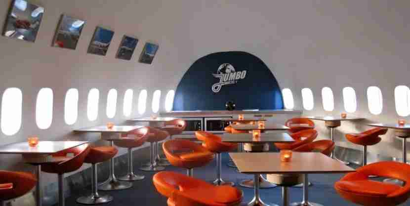 The Jumbo Cafe, no plastic cutlery required. Image courtesy of the JumboStay Hotel Arlanda.