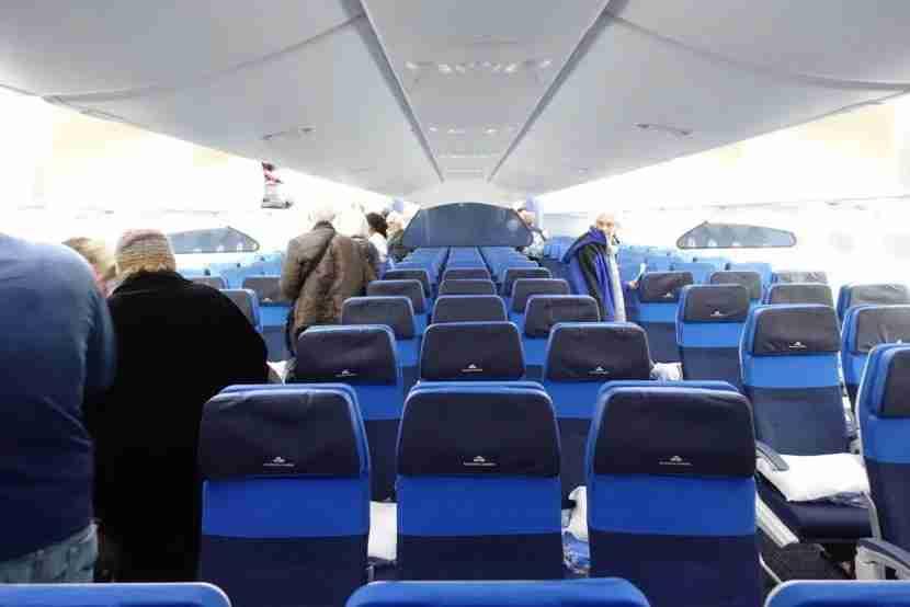 Heading back through the Economy Comfort cabin.