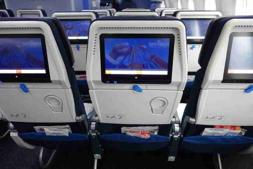 The IFE screens in economy are 11 inches wide.