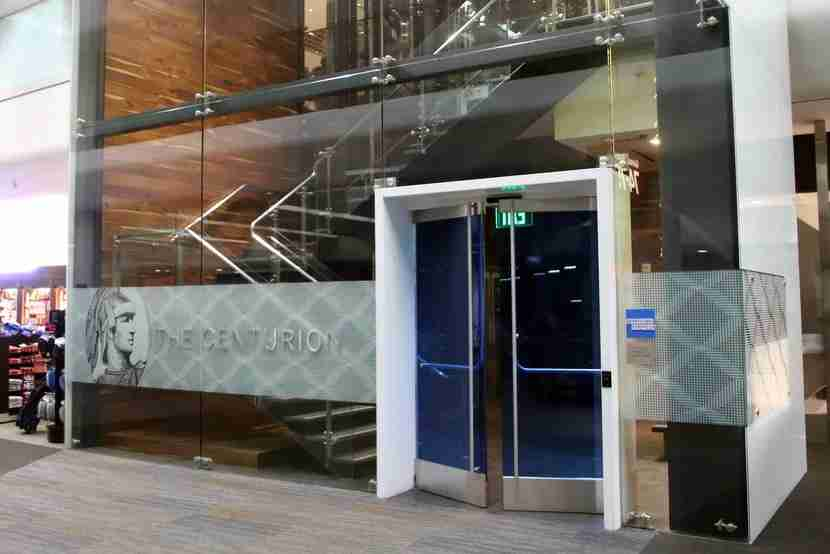 The American Express Centurion Lounge in SFO