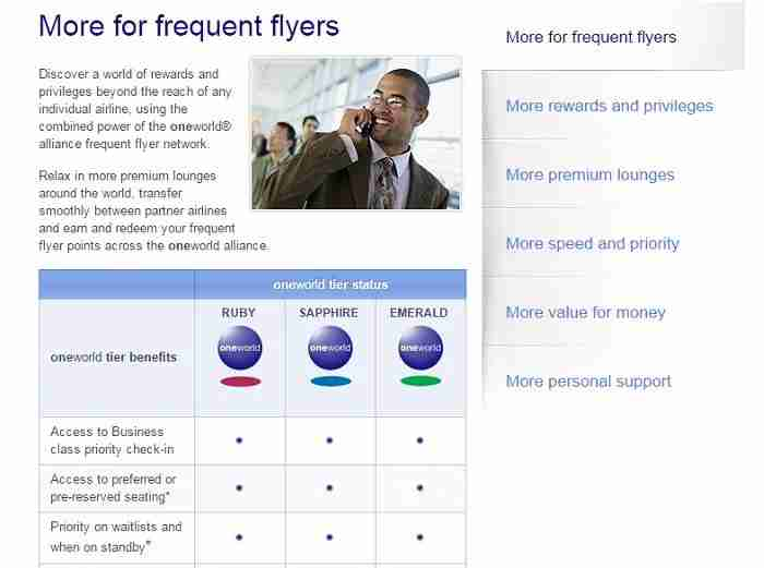 Get benefits on all Oneworld airlines.