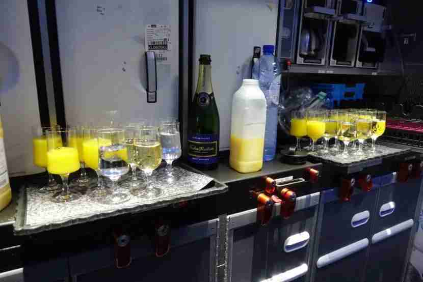 There was Champagne, orange juice and water to choose from pre-departure.