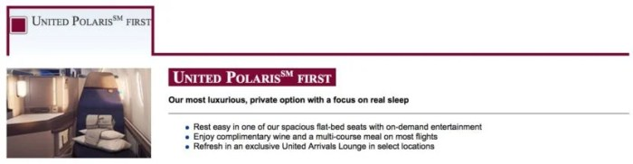 United Polaris first website description.