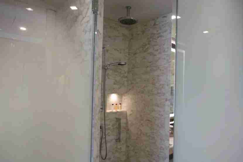 The shower stall.