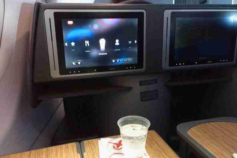 Even though the flight was so short, we still had a beverage service.
