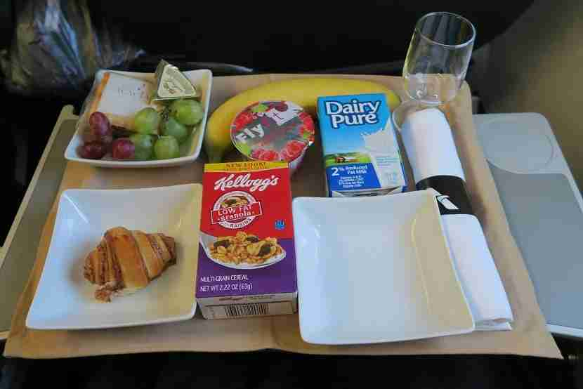 """American Airlines cold """"shelf stable"""" breakfast."""