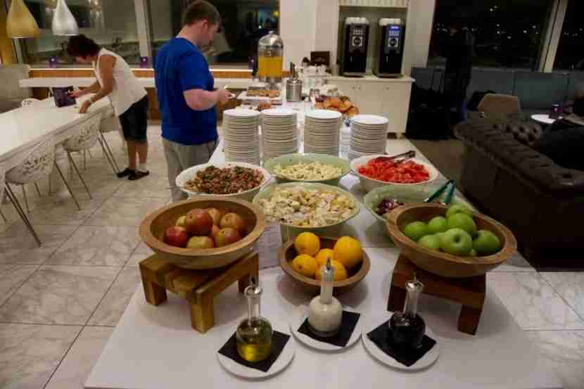 Buffet offerings at the No. 1 Lounge.