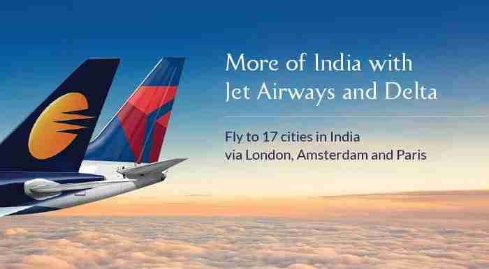 Delta and Jet Airways have been adding more and more codeshare flights. Image courtesy of Jet Airways.
