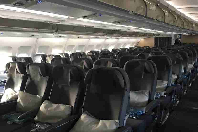 2-4-2 layout in the SAS A340 economy cabin.