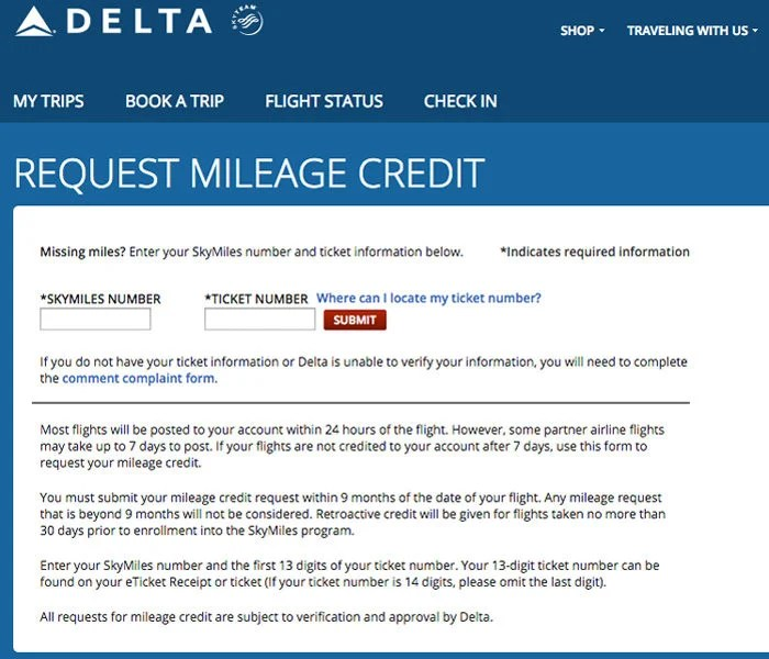 Claim Your Missing Delta Miles For 2016 Flights