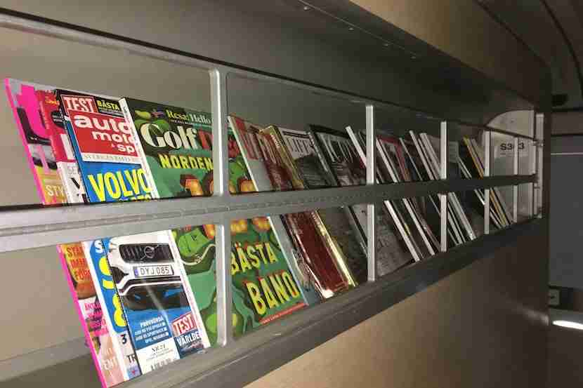 The magazines were free to keep and you were encouraged to do so by the flight attendants.