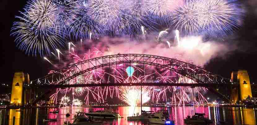 Ring in 2017 with fireworks over the harbour in Sydney. (Image courtesy of via Flickr.)