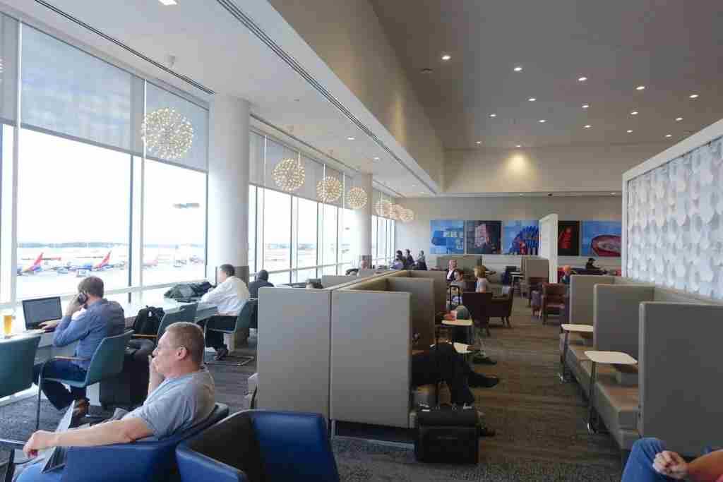 One of the main seating areas in the Sky Club.