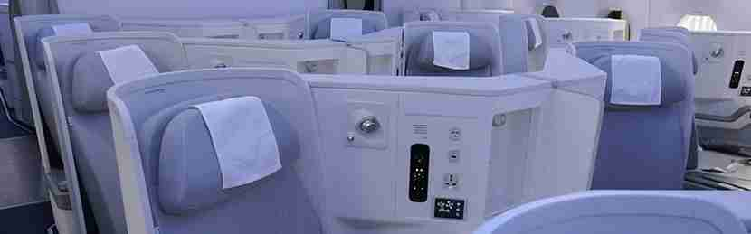 Finnair A350 business class London Heathrow to Helsinki