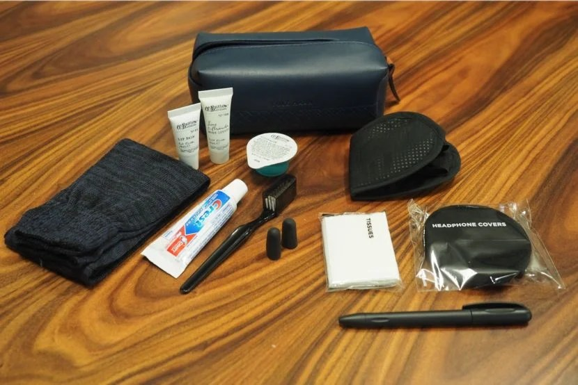 Here's what you'll find inside the business-class amenity kits.