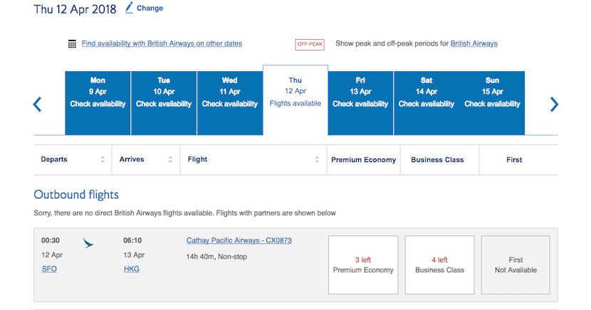 Award availability is usually good within two weeks of departure.