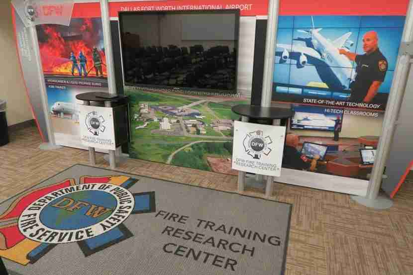 Interactive training board at DFW FTRC.