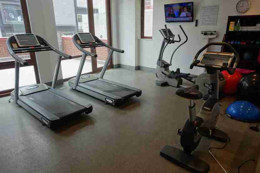 The fitness center was small and only had cardio equipment.