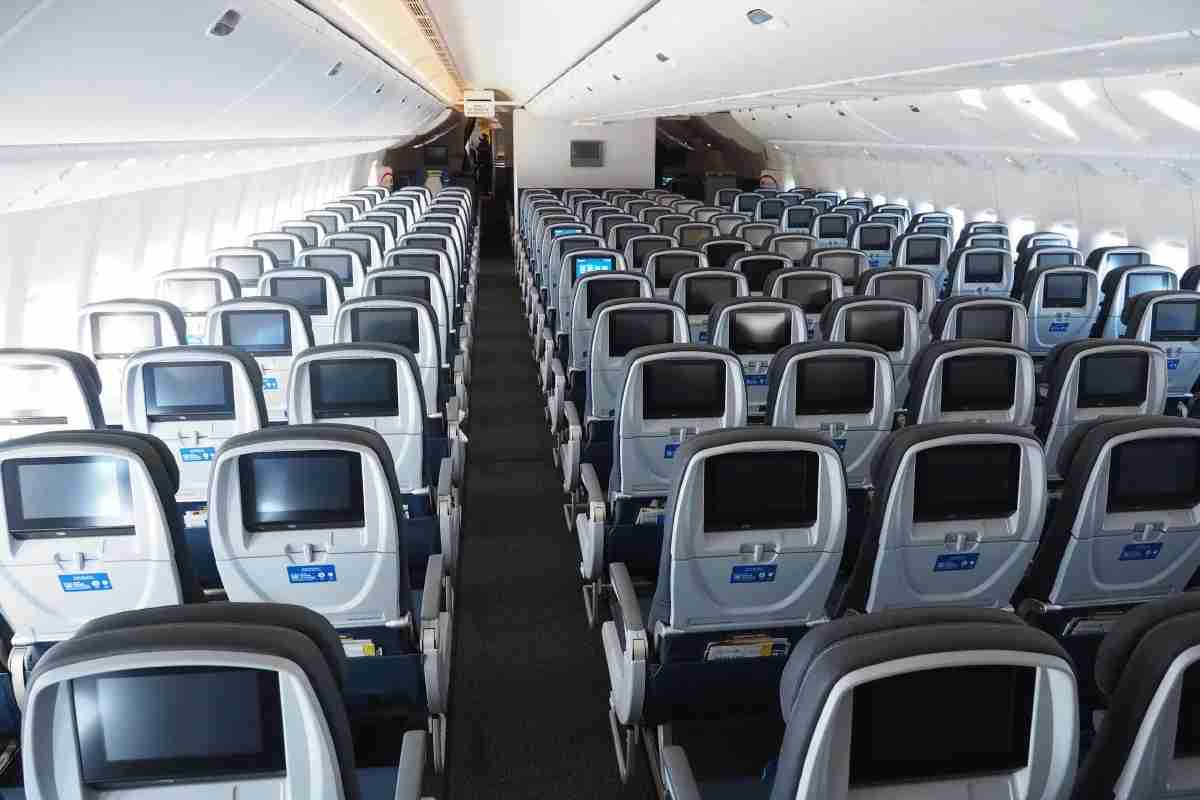 The Economy cabin on a United Boeing 777-300ER (Photo by The Points Guy)