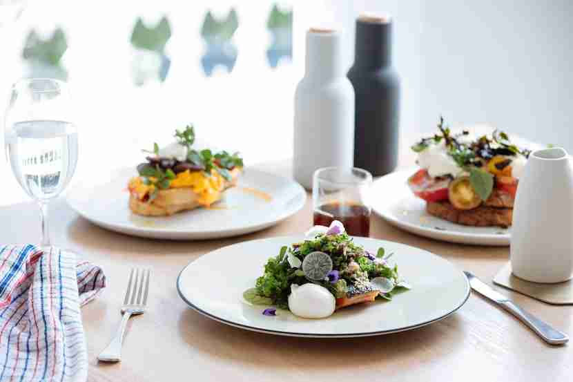 Take a seat and linger over the brunch spread at The Kettle Black in South Melbourne. Image courtesy of Tim Grey.