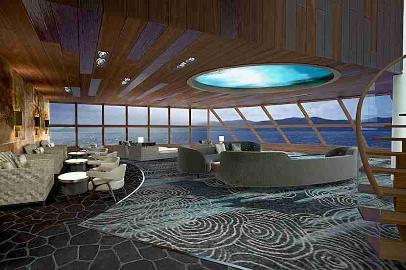 The Haven Observation Lounge offers a view to remember. Image courtesy of Norwegian Cruise Line.