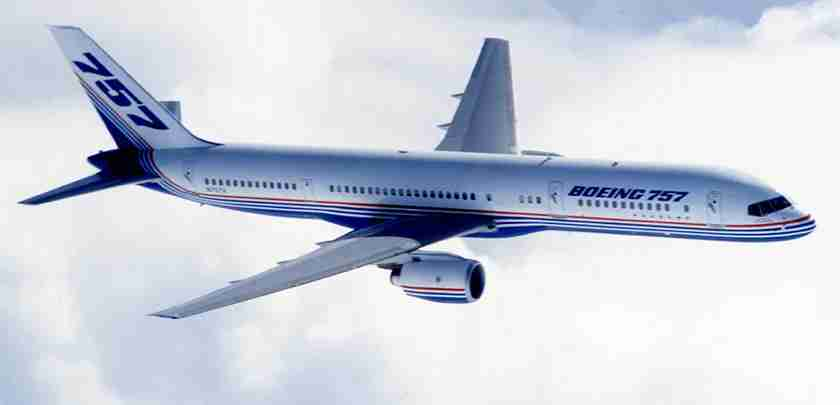 Boeing 757. Image courtesy of Boeing.