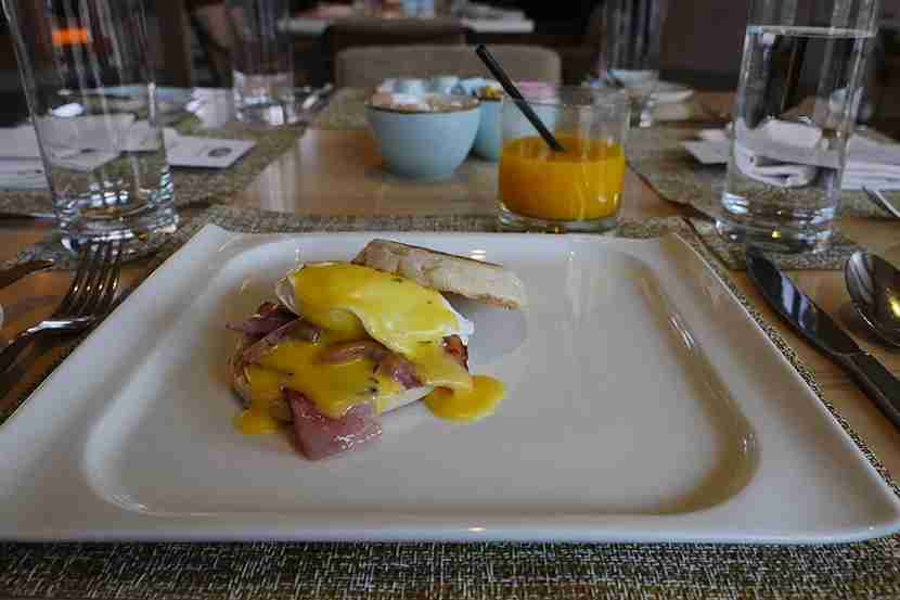 Breakfast is a la carte, with a full menu, plus self-service buffet.