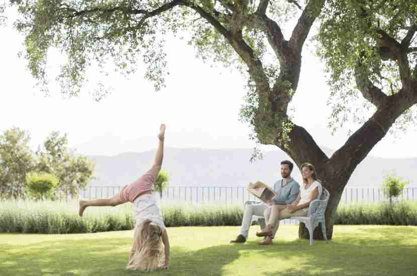 Family vacation in Spain? Thousands of dollars. Cartwheels in the hotel garden? Free. Image courtesy of Tom Merton via Getty Images.