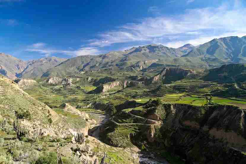 You can also go whitewater rafting and trekking through Colca Canyon. Image courtesy of Getty Images.
