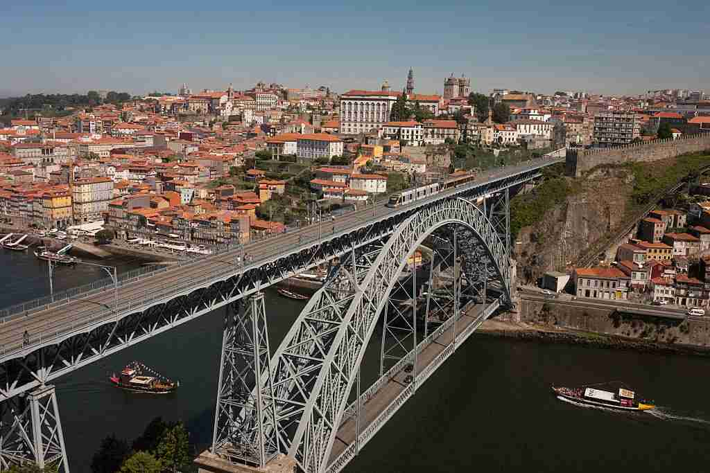 The Dom Luís I Bridge echoes the Eiffel Tower. Image courtesy of Richard Baker via Getty Images.