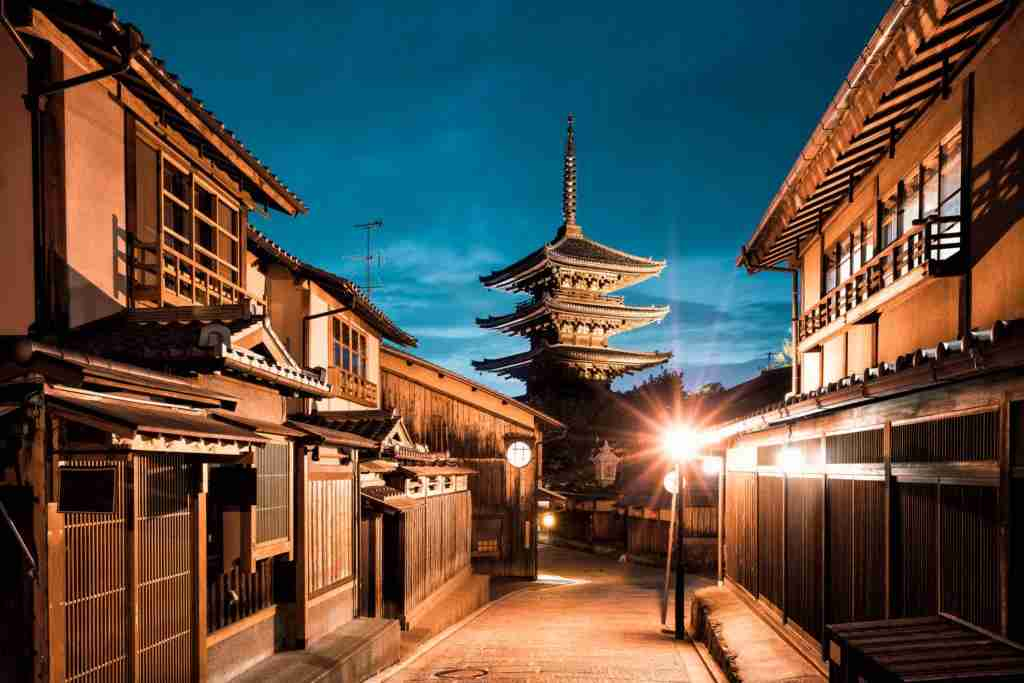You may get to spend time inside a Buddhist temple as well as admiring it from outside in Kyoto. Image courtesy of JaCZhou 2015 via Getty Images.
