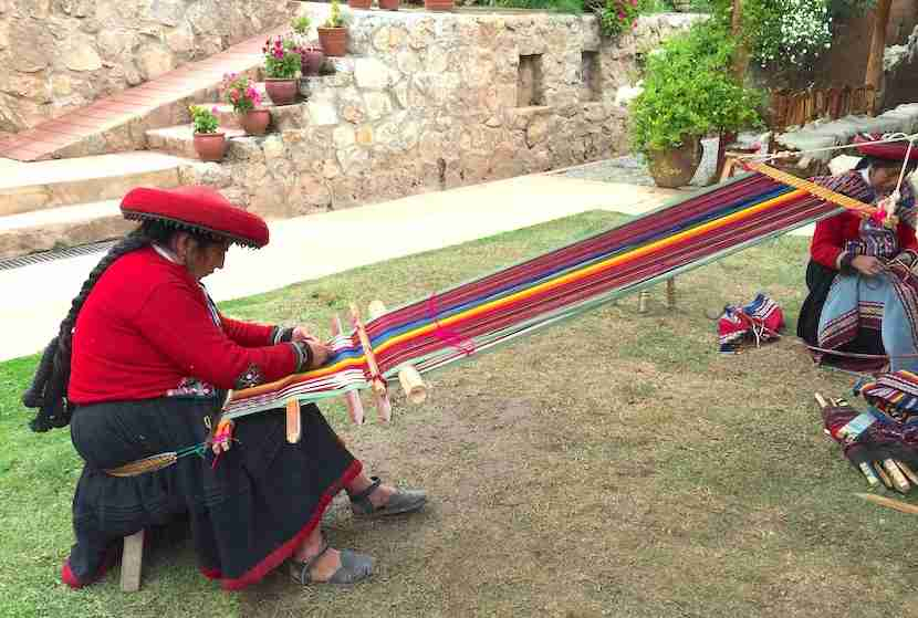 Spend a few days in the Sacred Valley learning about traditional Andean cultures and crafts, like weaving.