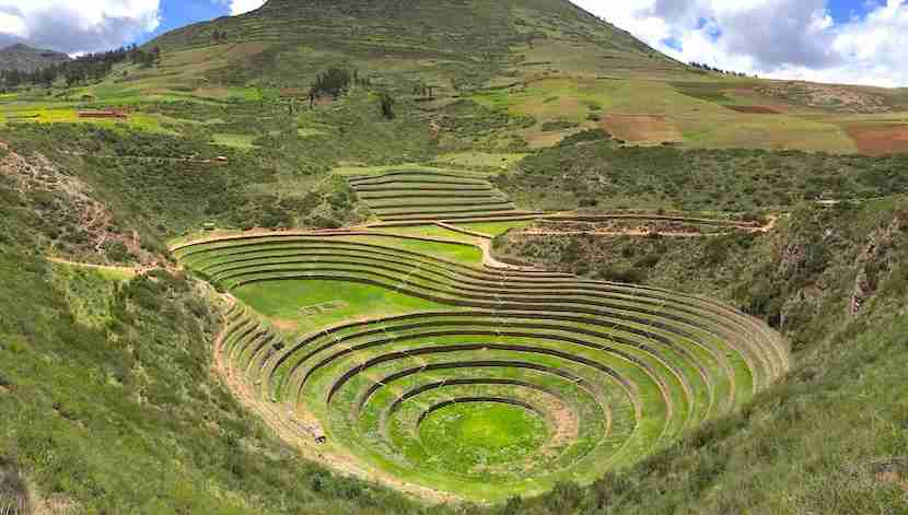 The crop terraces at Moray make for a fascinating stop in the Sacred Valley.