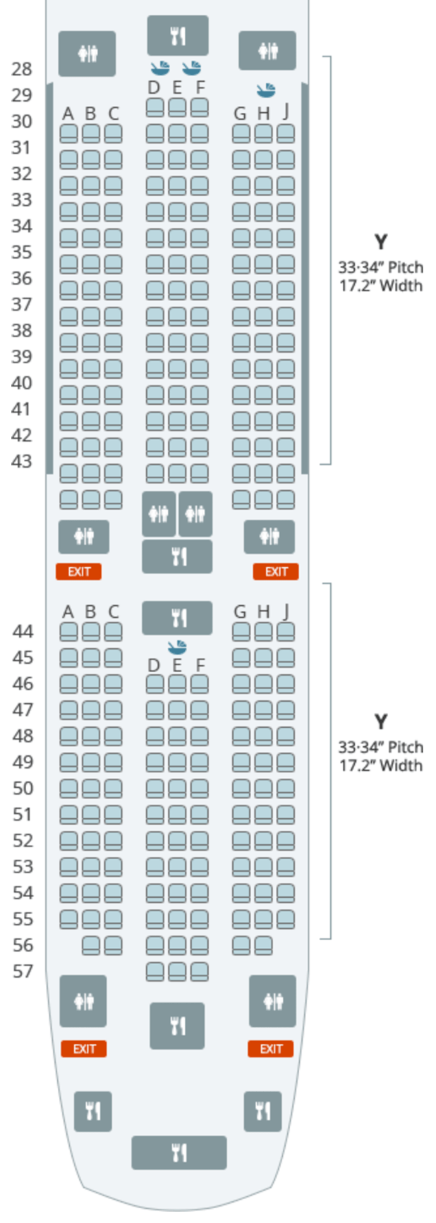 Here S A Seat Map To Help You Visualize The Cabin Arrangement Note That Two Of Seats Appear On Don T Actually Exist There Are No