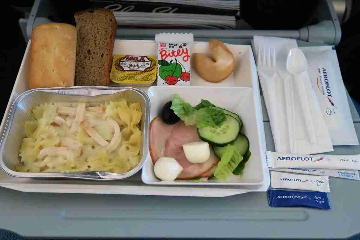 Aeroflot 77W SVO-JFK second lunch