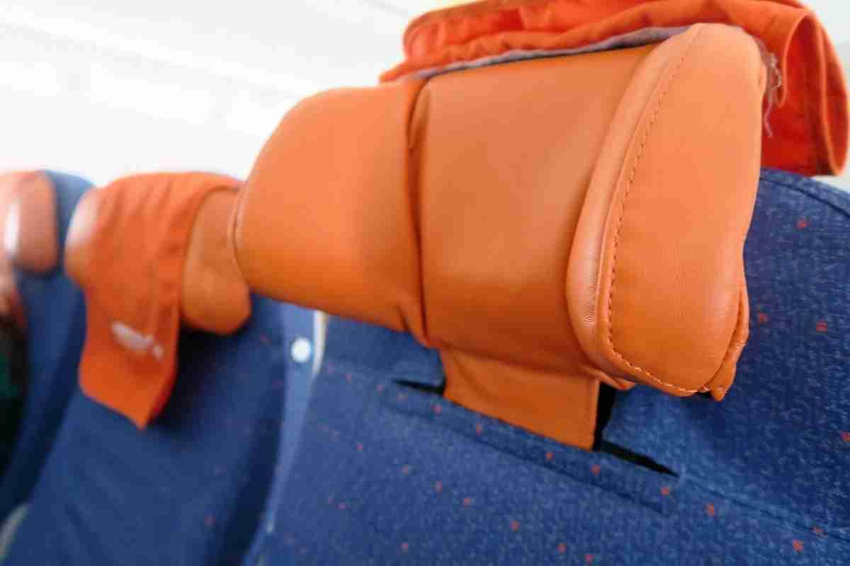 Aeroflot 77W headrests