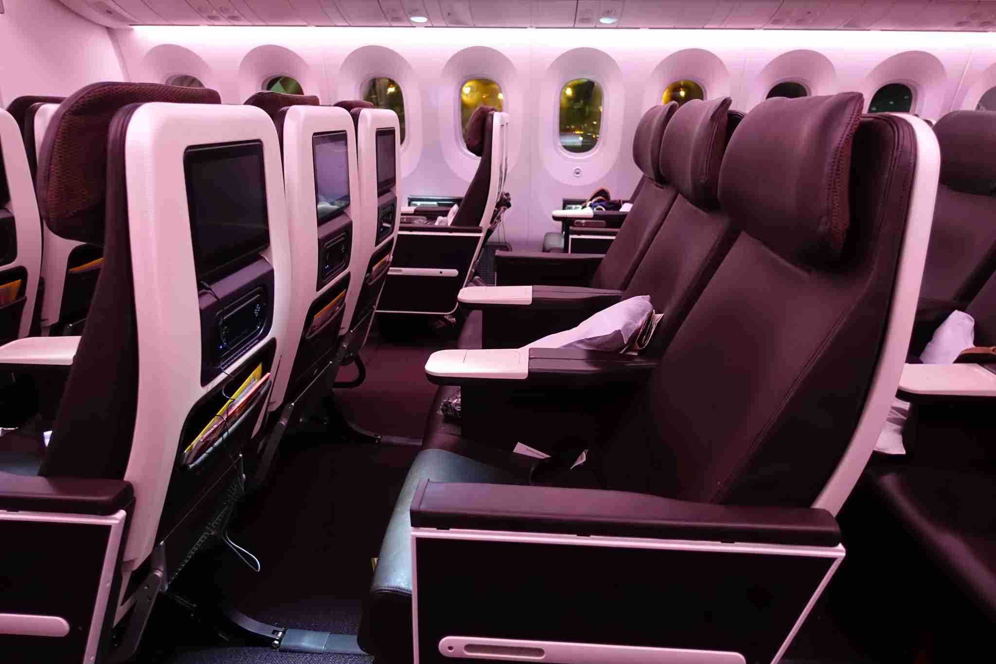 Premium economy aboard Virgin Atlantic