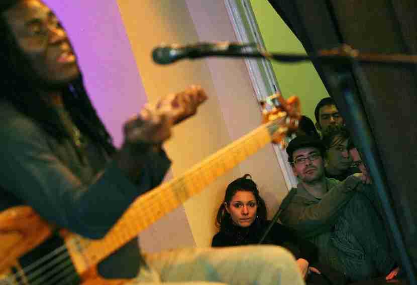 Cameroonian-born jazz musician Richard Bona entertains atBudapest Jazz Club. Image courtesy of BALINT PORNECZI/AFP/Getty Images.