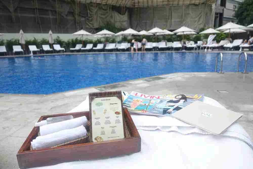 The pool kit -- a really nice touch.