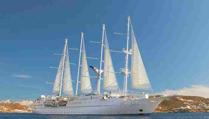 Windstar Crusies Wind Spirit yacht makes week long trips around French Polynesia. Photo courtesy of Windstar Cruises.