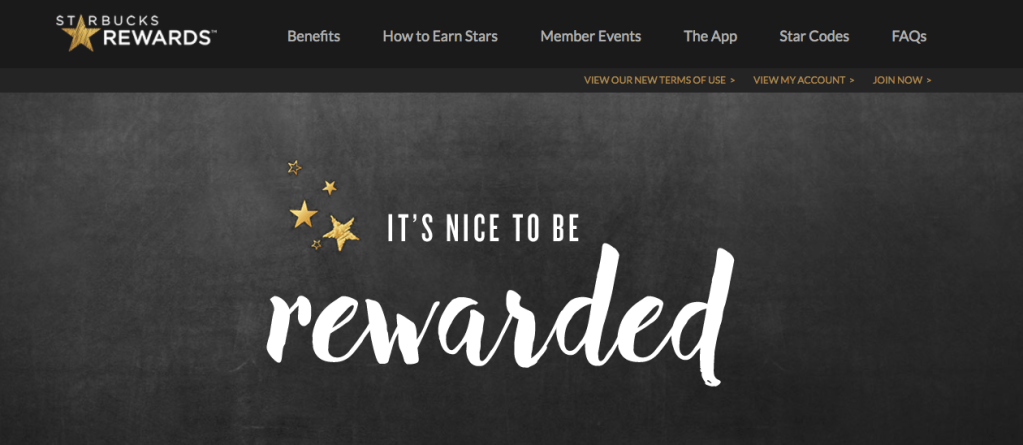 It is nice to be rewarded, but at Starbucks that generally applies to Gold members only.