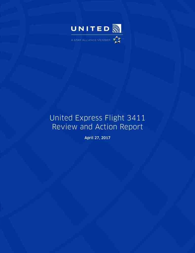 United Flight 3411 Review and Action Report-01