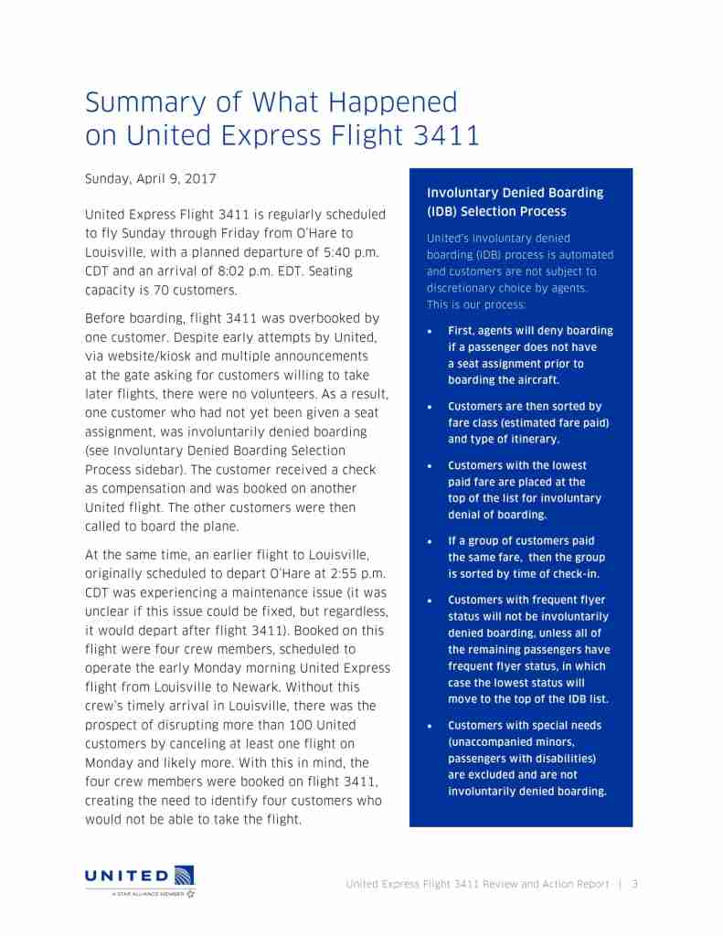 United Flight 3411 Review and Action Report-03