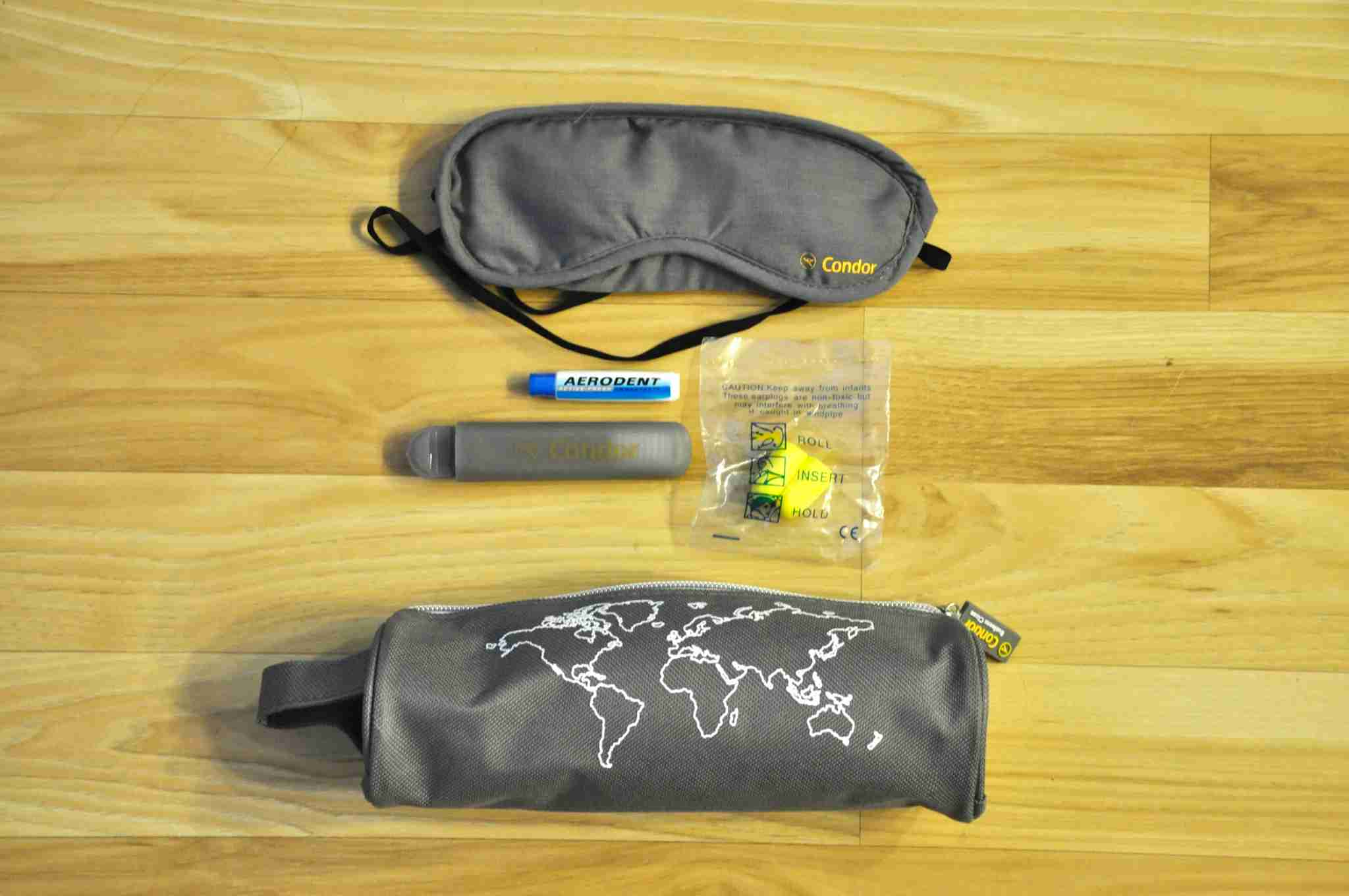 Condor Airlines Business Class amenity kit