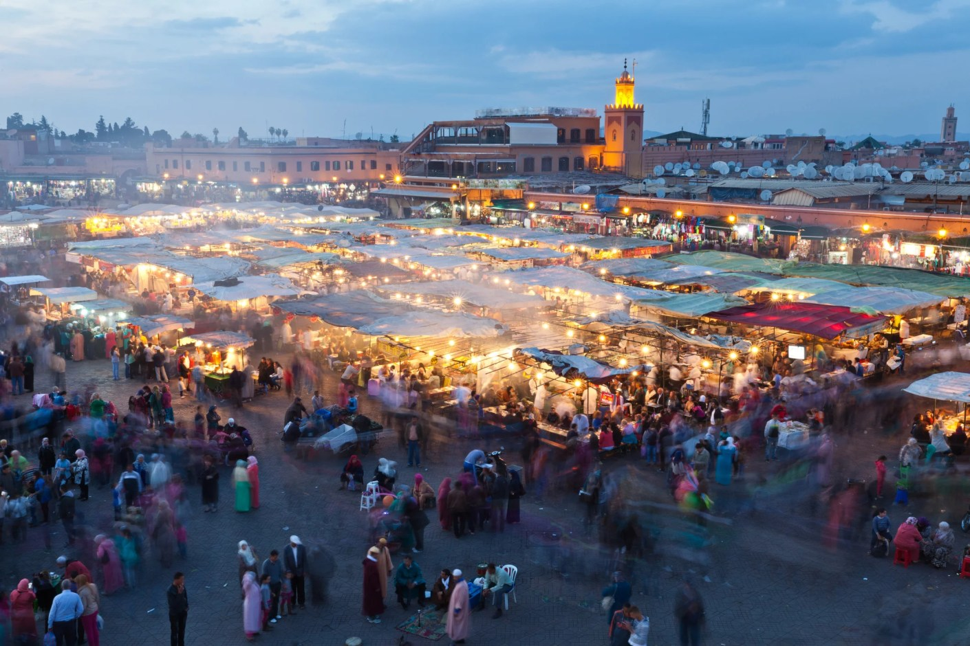 Avoiding henna in the Jemaa el-Fnaa Square will save your sensitive skin. Image courtesy of Dave G Kelly via Getty Images.