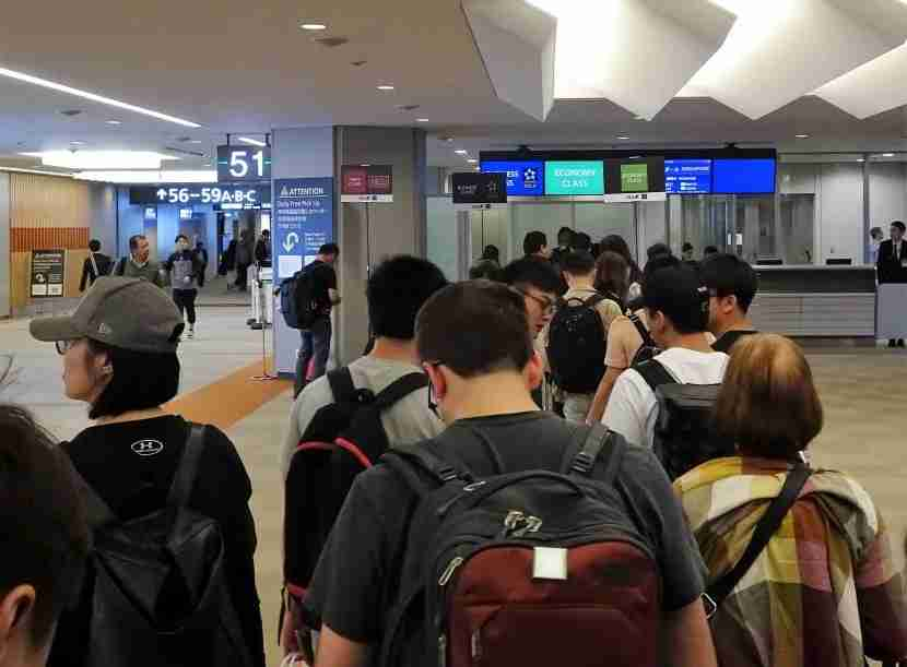 Boarding Line at Gate