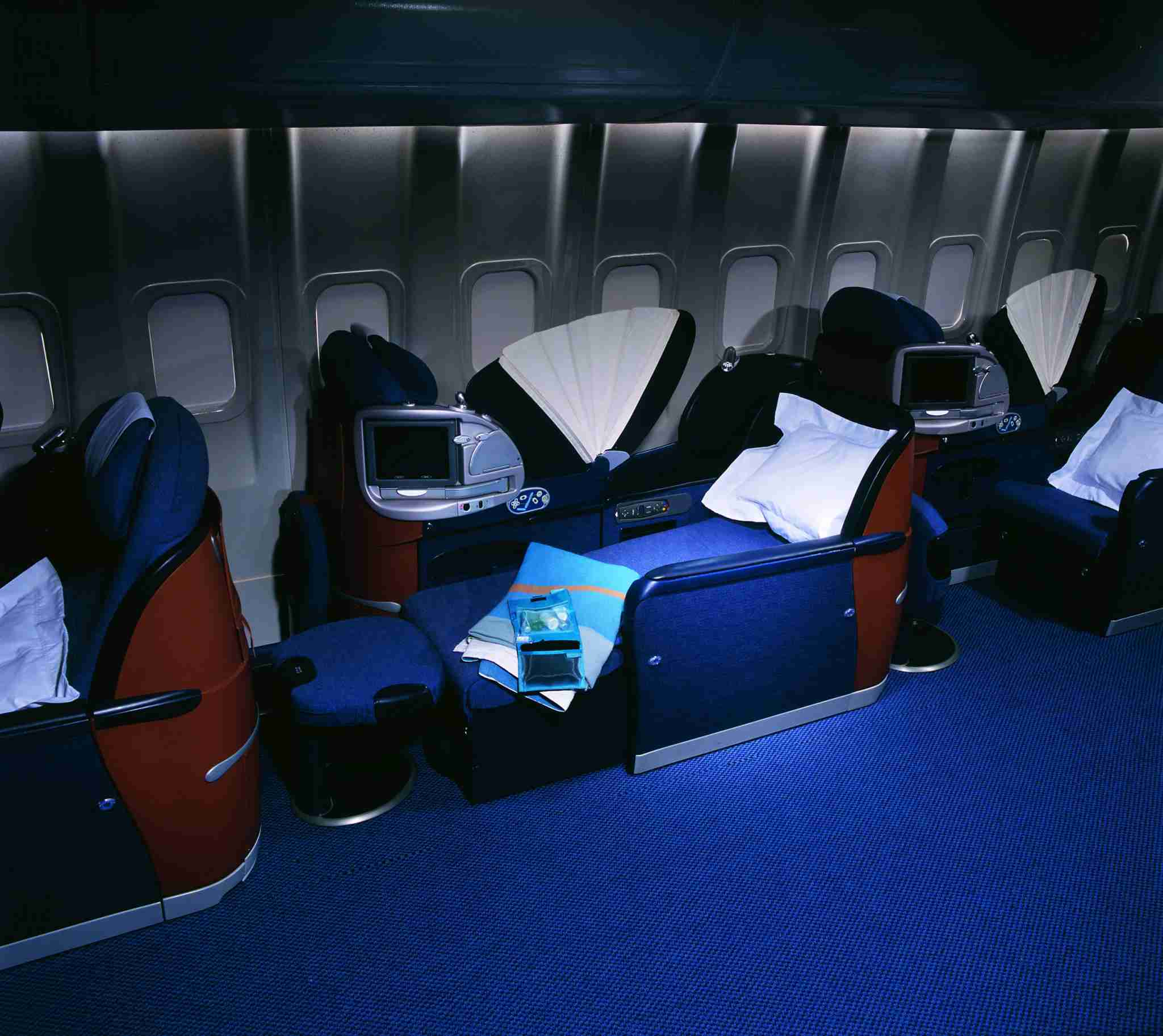 British Airways was first to market a fully flat bed in business class, called Club World. Image courtesy of British Airways.
