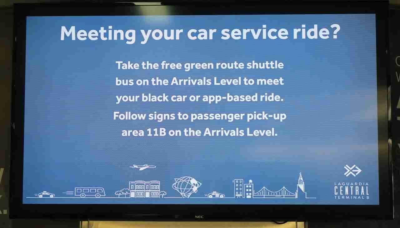 LGA Uber Instructions in terminal